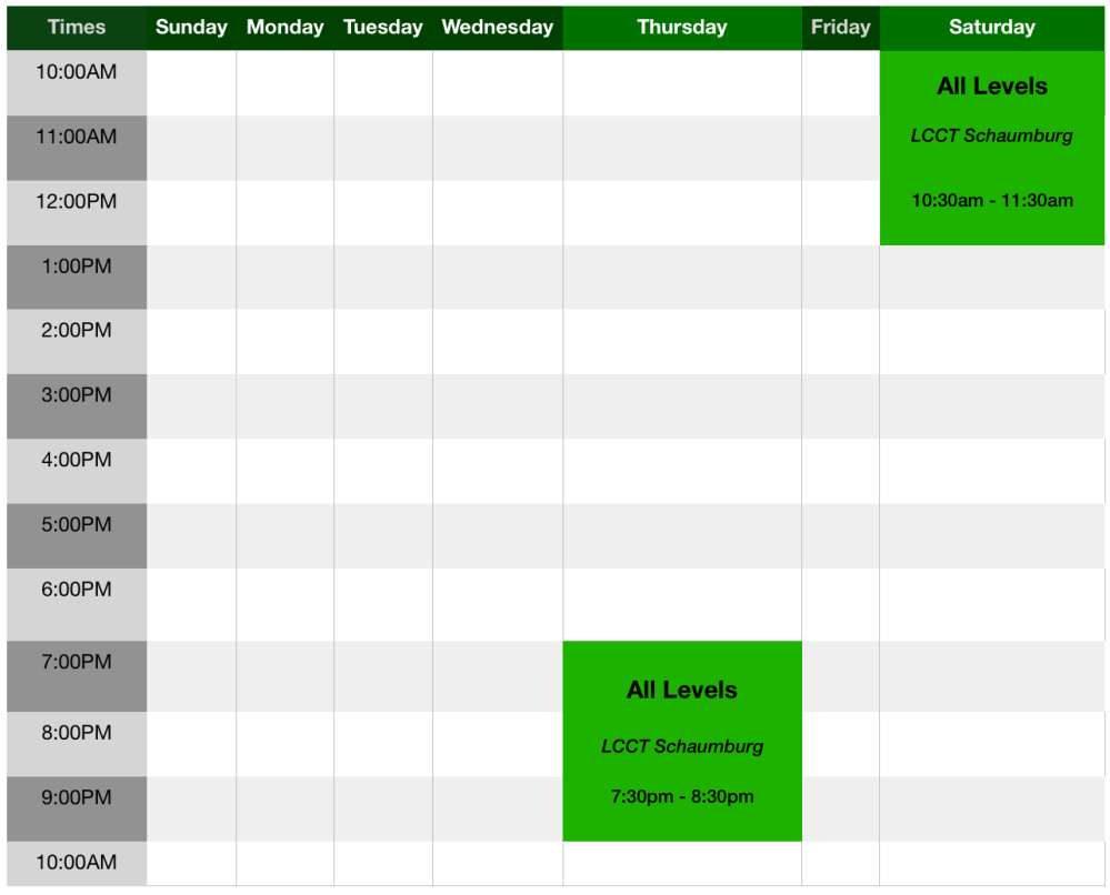 Capoeira Brasil Schaumburg Schedule